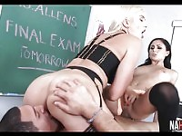 Hot Threesome With The Substitute Teacher Ariana Marie, Gigi Allens