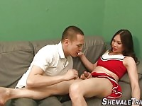 asian femboy blows dick