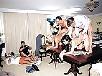 Anal Orgy in the Office.