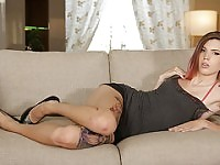Shemale Freya makes love with her hubby