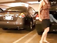 VoyeurChamp.com - Upskirt Wife Lana Flashing In Public!