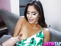 Pretty latin chick Katya Rodriguez cuckolds a poor guy.