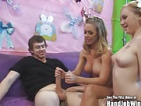 Big Boobs Nicole Anniston Gives Easter Handjob with Friends.