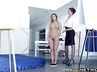 Hot ass model gets involved in lesbian play with boss.