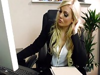 Blonde chick gets fucked by the IT guy in the office.