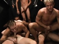 Slutty gay guys receive at a party and wish for ass fuck