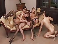 Wild bisexual orgy at home.