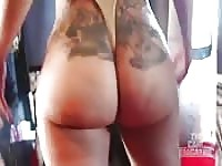 Bubble butt Latina booty shake