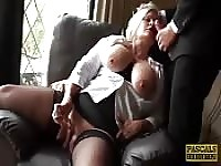 BBW MILF with big tits loving his cock.