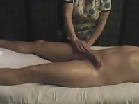 Hung guy gets a happy ending massage