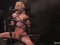 Dazzling Krissy Lynn featuring real BDSM action