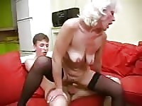 Granny aunt still loves sex like crazy.