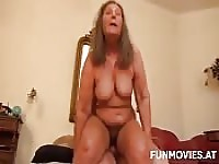 German old lady gets cock