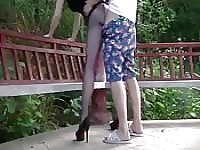 Pantyhose public fuck - Asian amateur!.