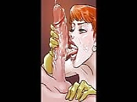 Video montage of animated sluts sucking big dicks.