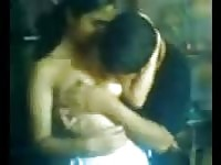 Indian amateur tit play.