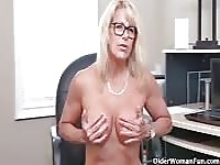 Mature Canadian office babe.