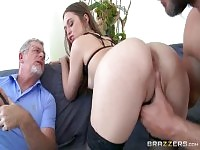 Dazzling dusky maried lady Riley Reid in incredible cuckold session