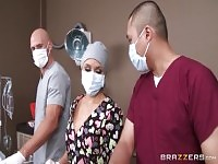 Classy blonde Alexis Monroe performing in real medical XXX video