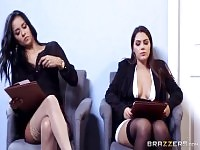 Threesome porn video featuring Valentina Nappi, Brad Knight and Abby Lee Brazil