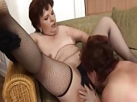 Incredible mom in gangbang sex video.