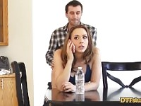 CHANEL PRESTON FUCKED IN DOGGYSTYLE WHILE MAKING A PHONE CALL.