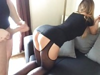 step brother take sister to the hotel room and cum on shes ass.