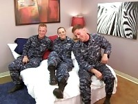 Sexy Navy Petty Officer fucks her Sailors.