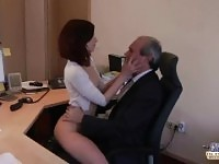 I am a young secretary seducing my boss at the office asking for sex.