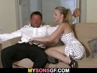 His GF enjoys riding old dad's cock