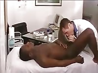 Interracial guys pleasure themselves