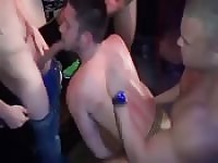Hot gangbang party gay porn