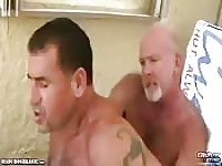 Bearded daddy's hot outdoor fuck