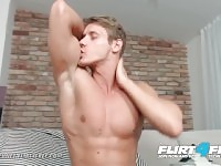 Flirt4Free Mode Eluan Jeunet - Perfect Ripped Model Stroking His Huge Cock
