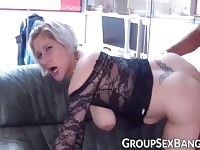 Mature German Nympho Fucking Gangbang Big Cock for Facial