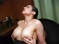Busty Arab girl fucks man with much love.