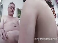 Old man sex with young lady.