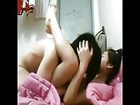 Korean Couple In Bed