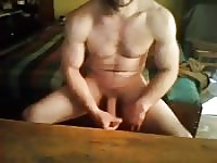 Hot muscular hunk in solo cam show