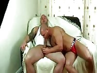 Two muscle daddies in tasty cam show